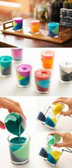 tutoriel bougies à plusieurs couches multicolores à fabriquer soi meme idée géniale ment faire des bougies parfumées