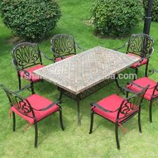 deck wrought iron table. Outdoor Garden Patio Terrace Deck Furniture Set Square Round Marble Mosaic Table Top With Wrought Iron