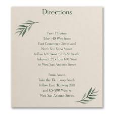 Love Vines Directionmap Card Carlson Craft Wedding Stationery