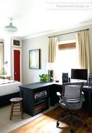 If your guest bedroom is very small, you should substitute a bed for a convertible sofa, which doesn't take much space yet gives enough sleeping space at the same time. Home Office Guest Bedroom Design Ideas Room Combo Guest Room Office Combo Mrrainsfunhouse Com