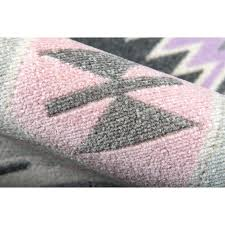 holiday indoor outdoor pink lilac area rug boho by