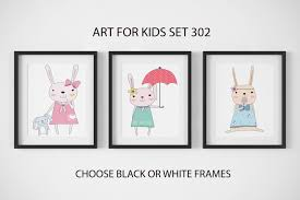>nursery decor nursery wall art framed wall art bunny prints baby  nursery children s art