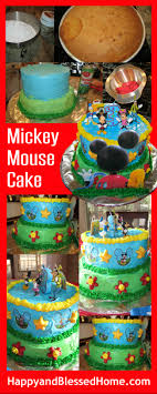 diy mickey mouse cake recipe and ings for a mickey mouse birthday party from happyandblessedhome