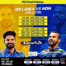 India vs Sri Lanka: New ODI and T20I ...