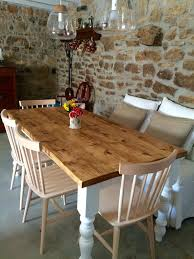 Kitchen Table Reclaimed Wood Rustic Farmhouse Kitchen Table From Reclaimed Wood With Country