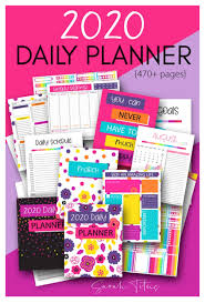 Daily Planner Template 2020 Free Printable 2019 2020 Daily Planner Money Saving Mom