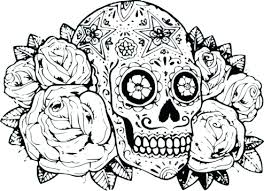 Sugar Skull Coloring Pages Free Printable Page For Adults