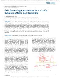 Earth Mat Design Calculation Pdf Pdf Grid Grounding Calculations For A 132 Kv Substation
