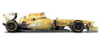 Reddit succeeded in bringing doge to nascar. Make It Happen A Dogecoin Formula One Car Wtf1