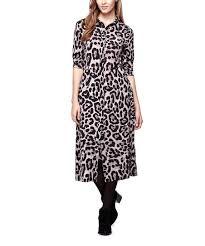 Iska London Size Chart Iska London Ivory Leopard Button Up Midi Dress Zulily