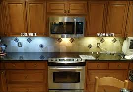 difference in color temperature under the counter lighting49 under