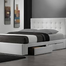 low platform beds with storage.  Platform White Padded Low Platform Bed Frame With Storage Drawers And Buttoned  Headboard Outstanding King Size Beds R