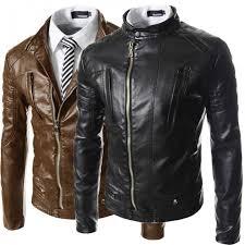 hugme fashion high quality leather biker jacket for men jk110