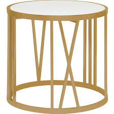roman side table brushed gold