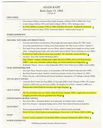 Resume Play Stunning Playwright Adam Rapp Annotates His Resume New York Magazine
