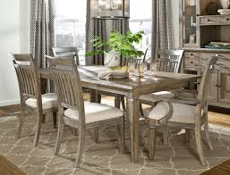 SixPiece ModernRustic Rectangular Trestle Table With Ladderback Modern Rustic Dining Furniture