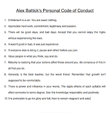 Personal Codes Of Conduct Whats Yours