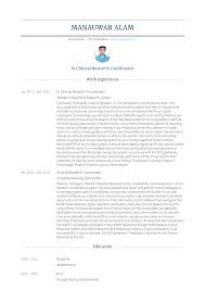 clinical research coordinator resume sample clinical research coordinator resume