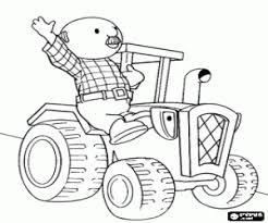 Trekker Tom Kleurplaat Traktor Kleurplatenlcom