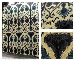 blue ikat pillows yellow gray throw west elm rug interior threshold blue ikat rug