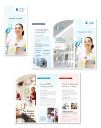 Cleaning Brochure Cleaning Janitorial Services Tri Fold Brochure Template