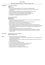 Sample Resume For Civil Site Engineer Civil Site Engineer Resume Samples Velvet Jobs 2