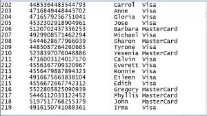 one other image of leaked bank card numbers with cvv