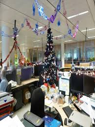 decorating office for christmas. Bay Decoration Office Christmas Themes (01) Decorating Office For Christmas