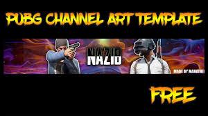 Channel Art Template Pubg Channel Art Template Free Photoshop Banner