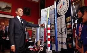 science environment medical election what the votes mean barack obama talks tours student science fair projects on exhibit at the white house in februrary