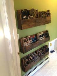 wall hanging shoe rack use pallets to make wall mounted shoe racks wall hanging shoe rack