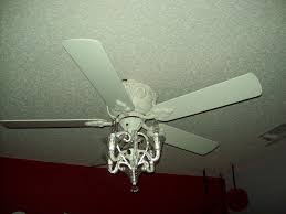 image of crystal ceiling fan chandelier