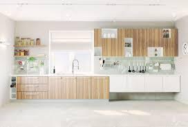 Modern Kitchen Interiors Modern Kitchen Interior Modern Kitchen Interior With Concrete