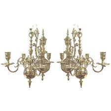 sconceswall sconce chandelier photo of century pair four brass candle sconces at in