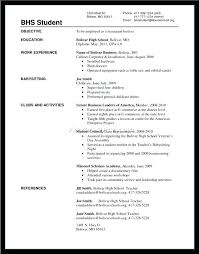 Work Experience Cover Letter Cover Letter Examples For High School Students With No Experience