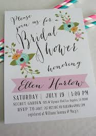 printable bridal shower invitation ellen diy fl and pink handwritten look wedding shower invite