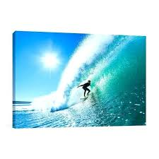 surf canvas art black and white surfing print