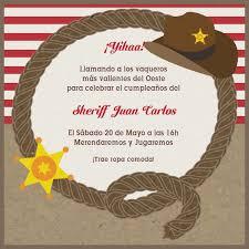 Invitaciones Fiesta Cowboy Vaquero
