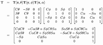 Resultado de imagen de matriz transformacion