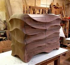 unique wooden furniture. One Of The Most Amazing Examples Curve Woodworking, This Beautiful Curvy Dresser Was Originally Designed By Caleb Woodard Furniture. Unique Wooden Furniture