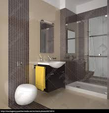 Stock Photo 6214214 Modernes Badezimmer Mit Beige Und Braun Fliesen