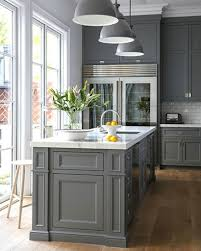 dark grey cabinet color ideas with elegant wooden floor for classic