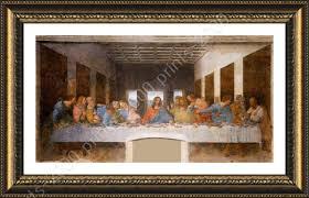framed poster the last supper leonardo da vinci