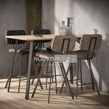 Table Bar Couleur Bois Et Acier Woodland