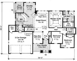 rambler house plans. Exellent Plans Attractive 3 Bedroom Rambler  14565RK Floor Plan Main Level Throughout House Plans Y