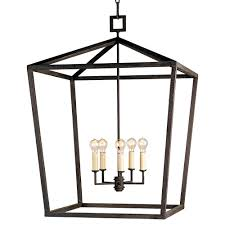 industrial chic lighting. Darden 4 Light Industrial Chic Open Lantern Pendant - 26 Inch | Kathy Kuo Home Lighting