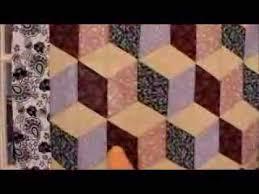 Free Tumbling Blocks Quilt Pattern Video Instructions - YouTube &  Adamdwight.com