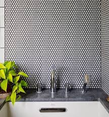 what type of grout for glass tile backsplash is this your style white penny rounds with