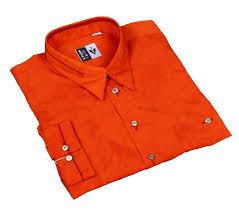 Long Sleeve Designer Shirts Leche Long Sleeve Designer Shirt In Orange