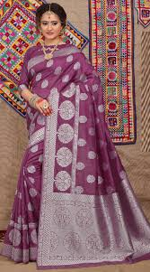 Light Purple Color Saree Light Purple Fancy Silk Single Color Saree Vb213821